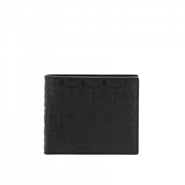 Salvatore Ferragamo men: Salvatore Ferragamo leather wallet with all over Mediterranean hook