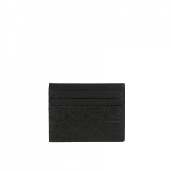 Salvatore Ferragamo men: Salvatore Ferragamo credit card holder with all over Mediterranean hook
