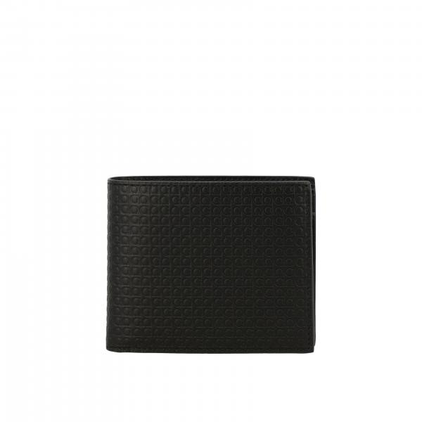 Salvatore Ferragamo leather wallet with all over hook