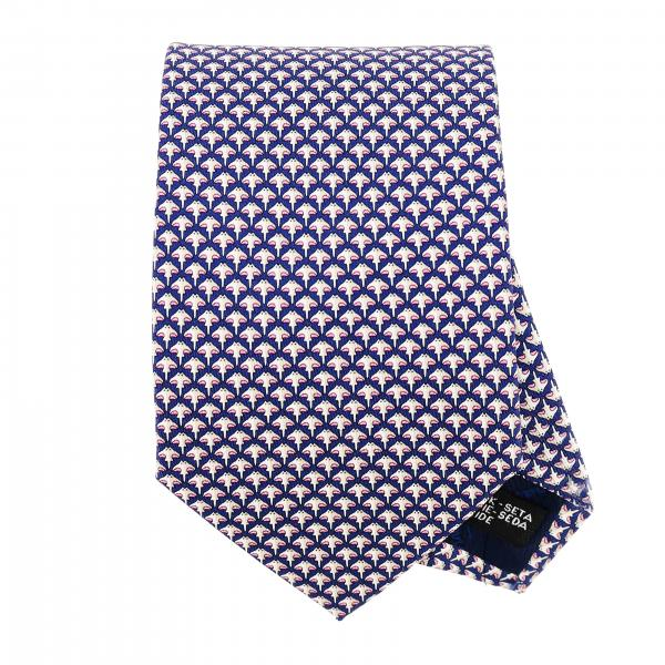 Salvatore Ferragamo silk tie with mini ray print