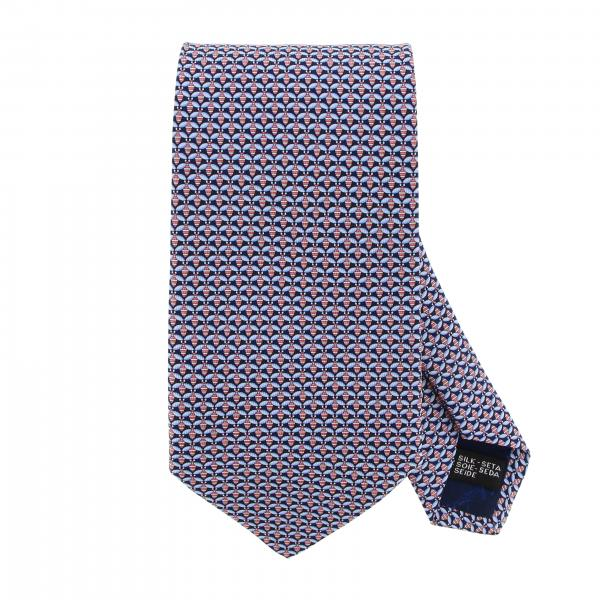 Salvatore Ferragamo silk tie with mini insect print