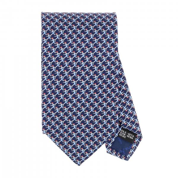 Salvatore Ferragamo silk tie with runner print