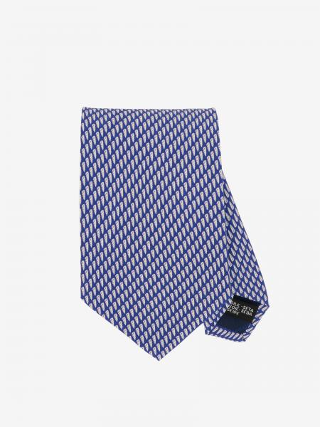 Salvatore Ferragamo silk tie with shell print