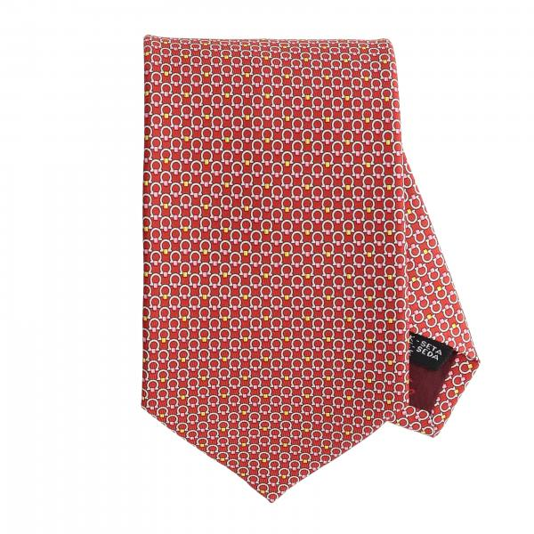 Salvatore Ferragamo silk tie with Mediterranean hook print