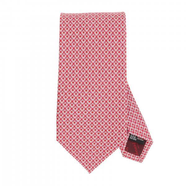 Cravatta Salvatore Ferragamo in seta con stampa gancio mediterraneo
