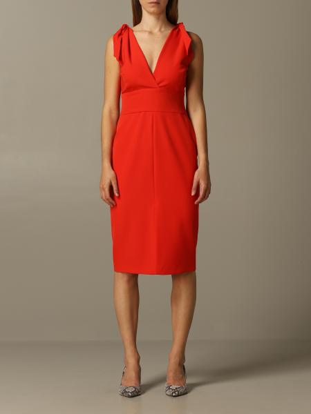 Dress v-neck hanita crepe dress with bows Hanita - Giglio.com