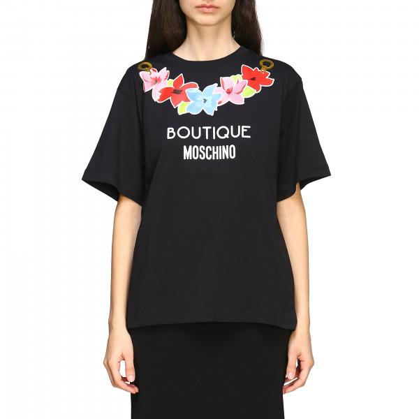 T-shirt Boutique Moschino con logo e stampa floreale