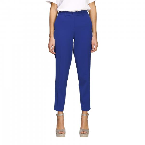 Pantalone Boutique Moschino slim in cady