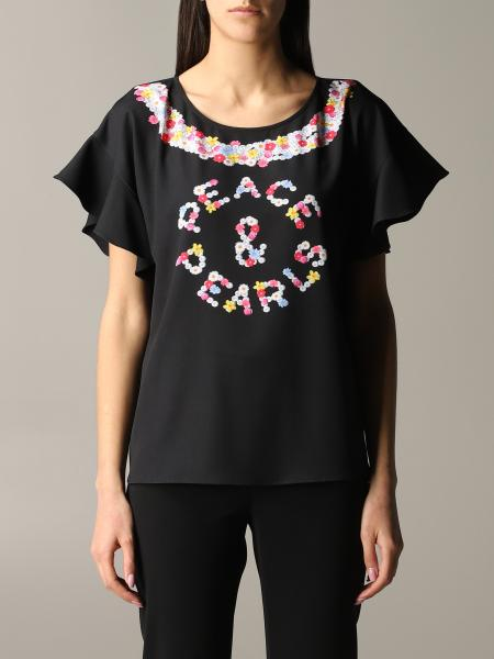 Top Boutique Moschino con stampa floreale