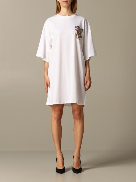 Robe en t-shirt Moschino Couture avec Teddy frame