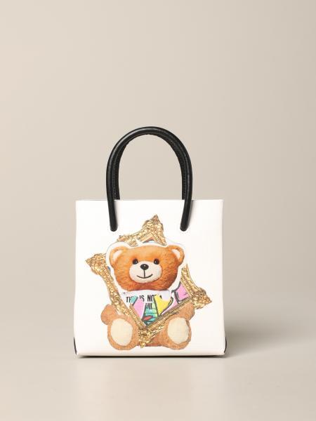 Borsa shopping mini Moschino Couture con teddy frame