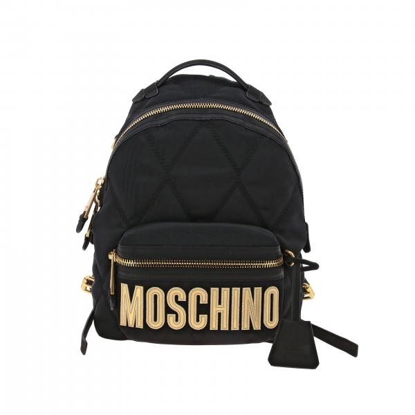 Zaino Moschino Couture medio in nylon trapuntato