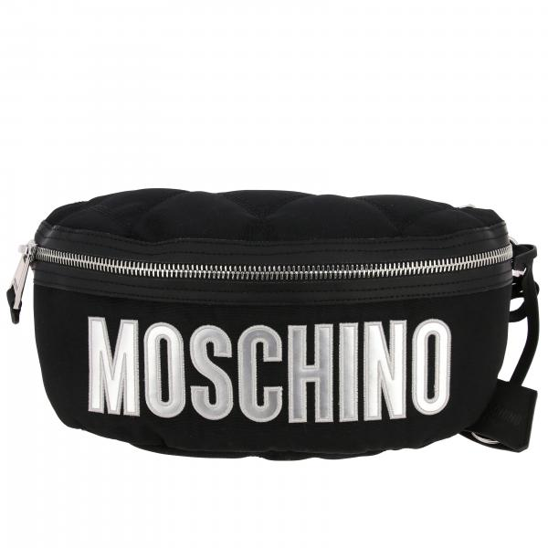 Marsupio Moschino Couture in nylon trapuntato con big logo