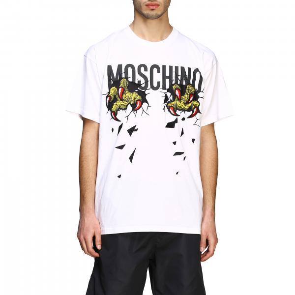 T-shirt Moschino Couture a maniche corte con logo e artigli