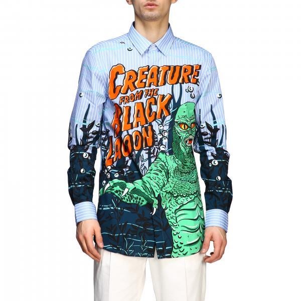 Camicia Moschino Couture con stampa mostro