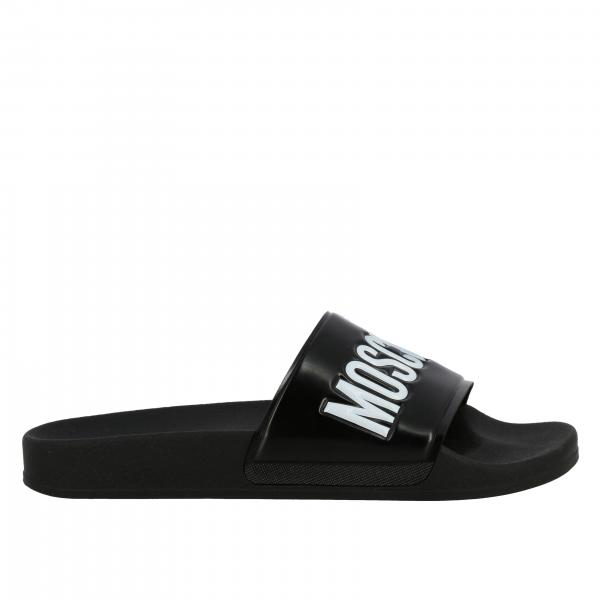 Moschino Couture rubber sandal with logo