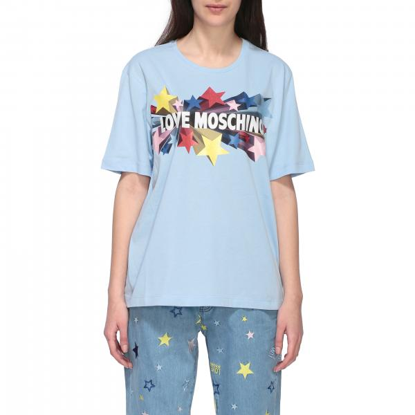 Love Moschino short-sleeved T-shirt with star print