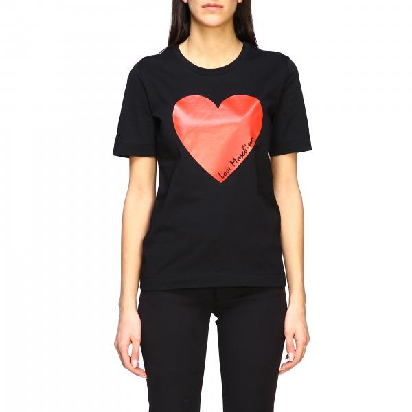 Love Moschino short-sleeved T-shirt with heart