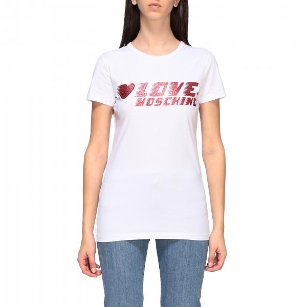 Love Moschino short-sleeved T-shirt with logo print