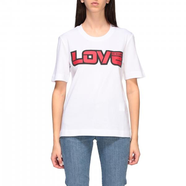 Love Moschino short-sleeved T-shirt with love print