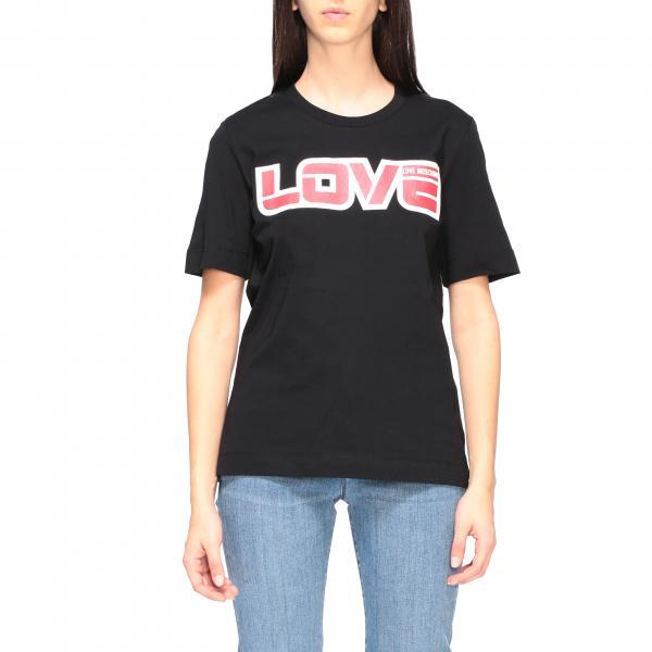 T-shirt Love Moschino a maniche corte con stampa love