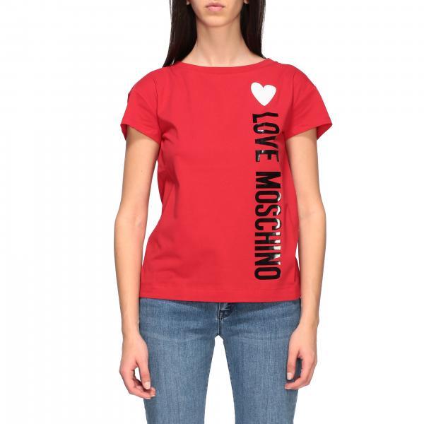 Love Moschino logo印花短袖T恤