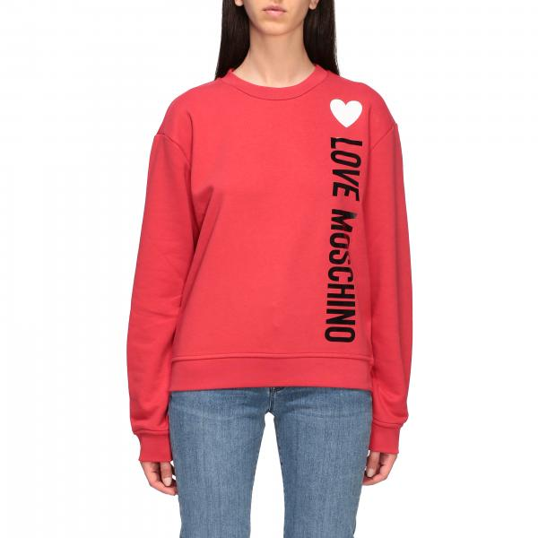 Love Moschino crewneck sweatshirt with logo print