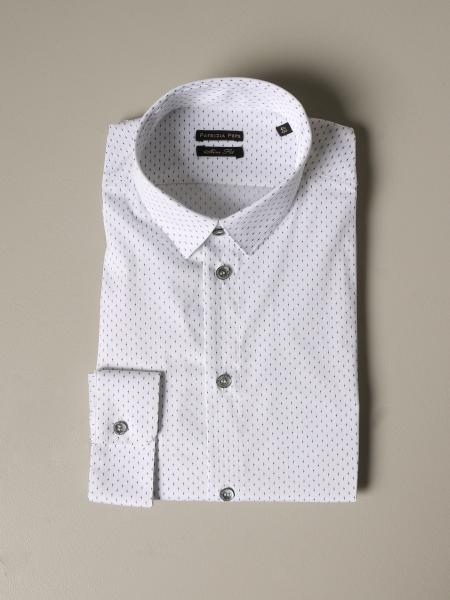 Patrizia Pepe shirt in micro-patterned cotton