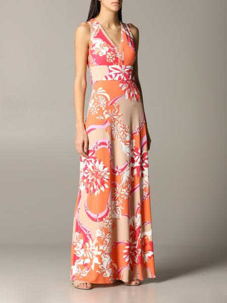 Emilio Pucci: Emilio Pucci long dress in jersey with vahiné print