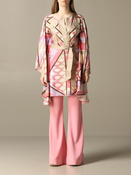 Kimono Emilio Pucci en soie avec imprimé vivara