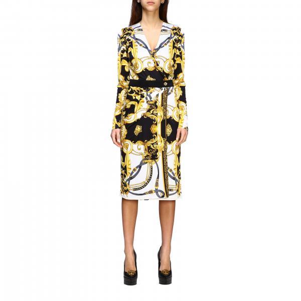 Versace 巴洛克印花针织连衣裙