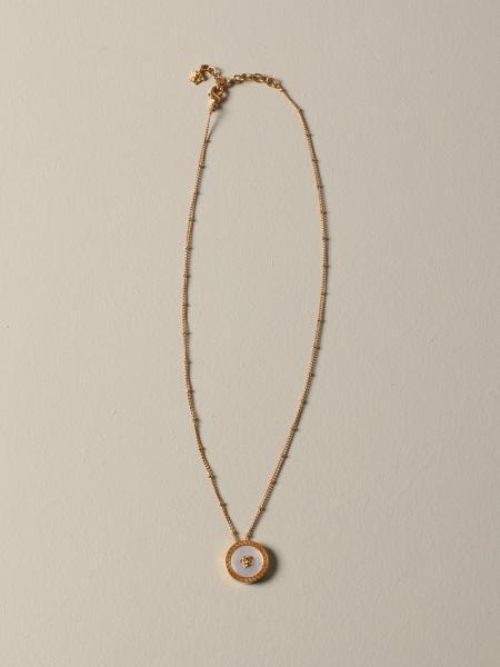 Collana Versace con ciondolo madreperla e testa di medusa