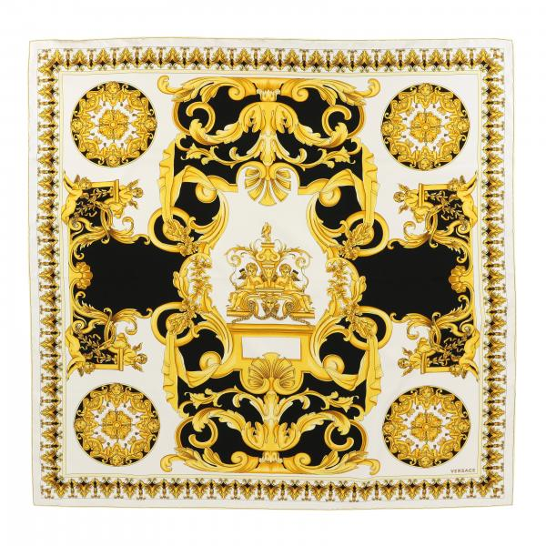 Versace silk scarf with baroque print