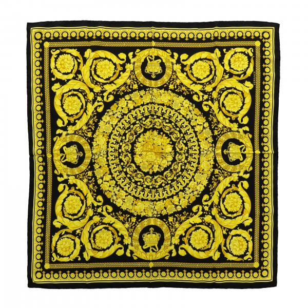 Foulard Versace di seta con stampa barocca