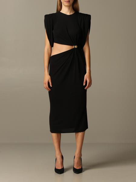 Versace cut out dress with metal clip