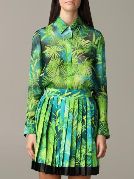 Versace Hemd aus Chiffon mit Dschungel Print