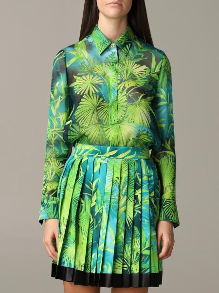 Versace 印花真丝雪纺衬衫