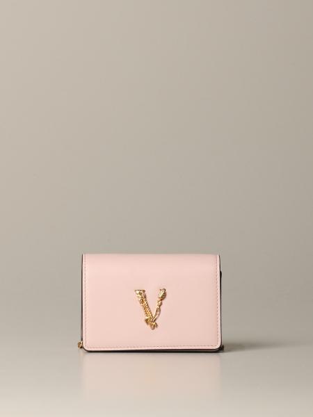 Versace V Virtus 真皮微型手袋
