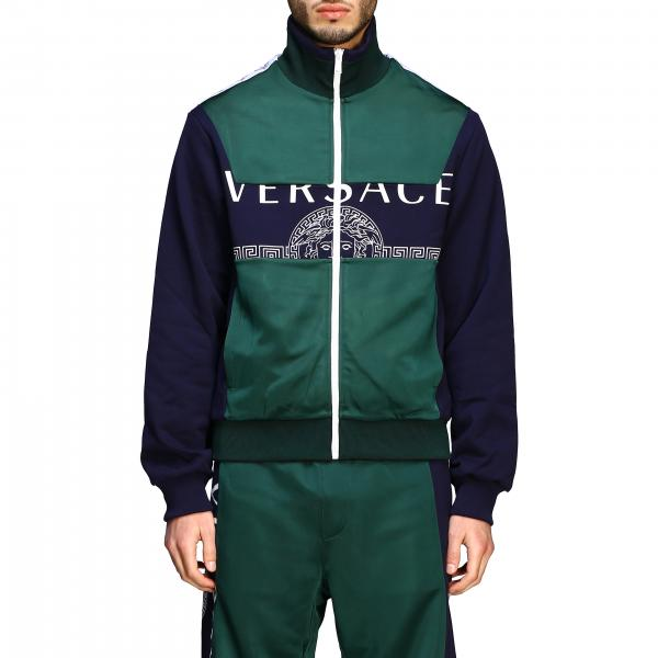 Versace sweatshirt with zip and logo
