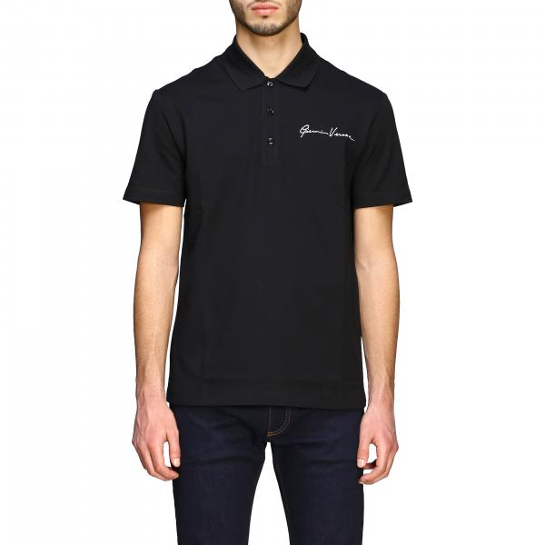 Versace short-sleeved polo shirt with signature