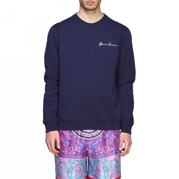 Versace crewneck sweatshirt with signature