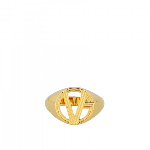 Кольцо из металла с логотипом Мужское Versace