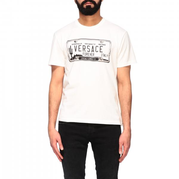 Versace T-shirt with plaque print
