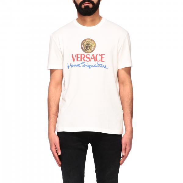 Versace crew neck t-shirt with logo