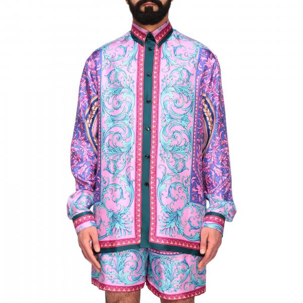 Versace silk shirt with baroque print