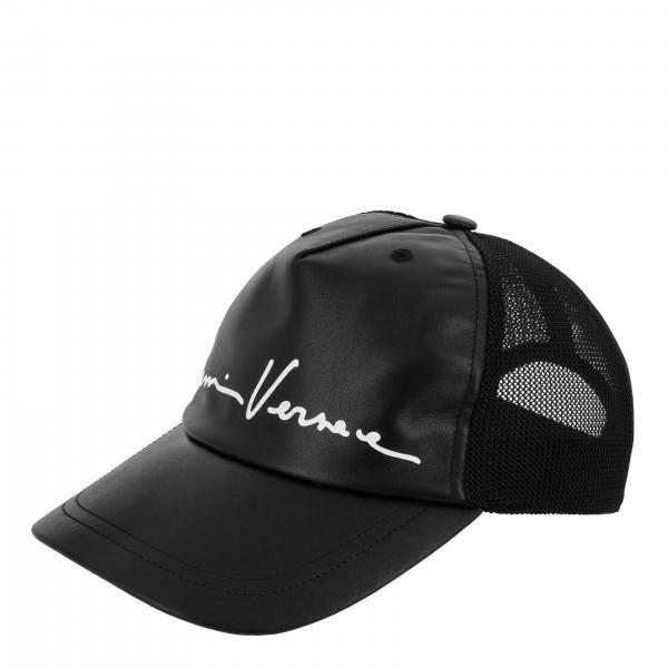 Versace logo 真皮棒球帽
