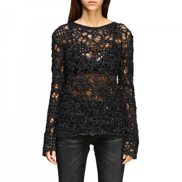 Saint Laurent Sweatshirt aus Lurex-Netz