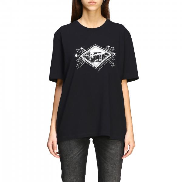 Saint Laurent short-sleeved t-shirt with jardin majorelle print and logo
