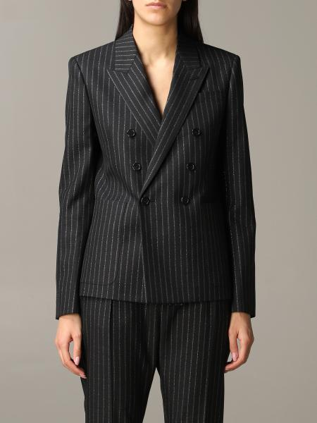 Saint Laurent pinstripe lurex jacket