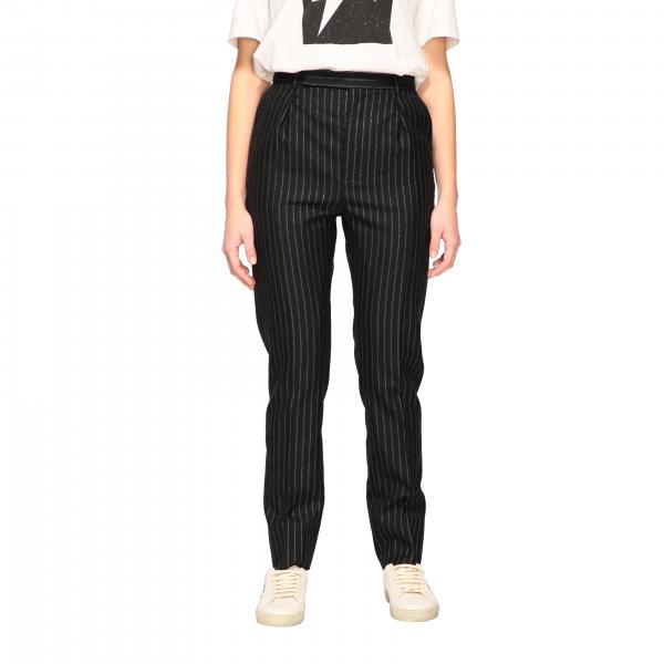 Pantalone Saint Laurent in gessato lurex
